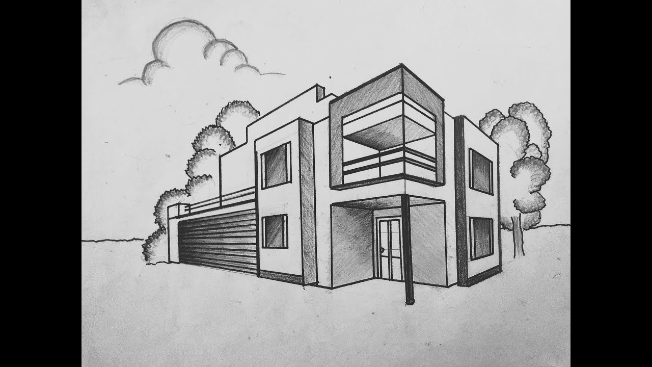 How to draw a building in 2 point perspective || by its ...