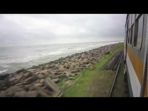 Train Journey Galle - Colombo (Jan 2013)