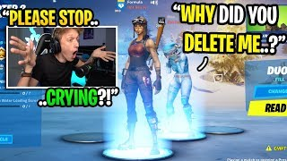 I got confronted by a girl for DELETING her over 1 YEAR AGO in Fortnite... (emotional)