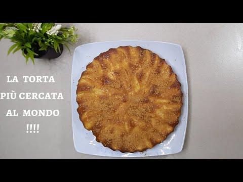 Con 2 mele 2 uova fai la TORTA più mangiata  al mondo. SENZA BURRO E MOLTO SAPORITA!!