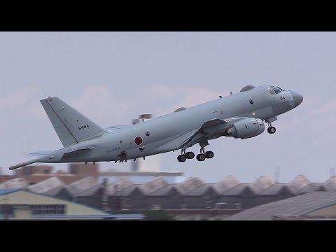 厚木基地日米親善春まつり2016 P-1対潜哨戒機 離陸・ローパス・着陸 NAF Atsugi Spring Festival 2016