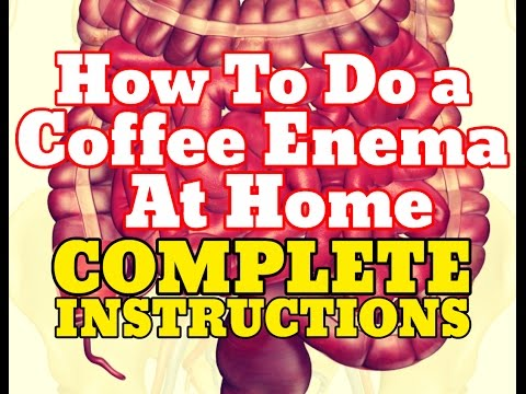 How To Do a Coffee Enema Instructions