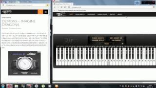 Imagine Dragons-Demons (Virtual Piano)