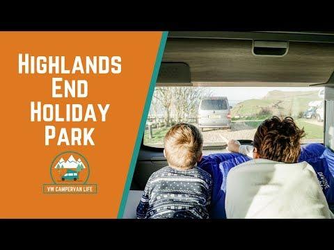 Highlands End Holiday Park in our VW California Campervan
