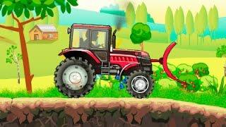 Мультик про тракторы Игры мультики гонки на тракторах  Tractors Power 2 Walkthrough