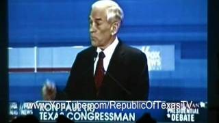 Newt Gingrich OWNED by Ron Paul (with crowd reaction)