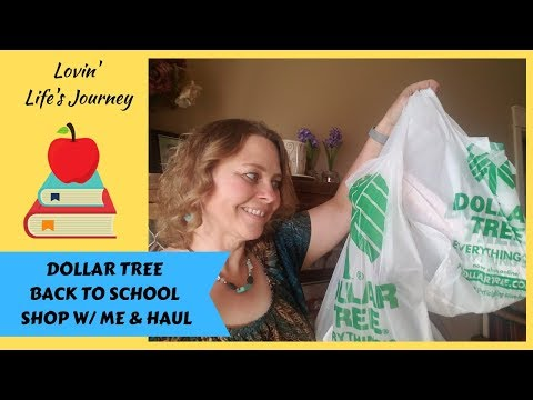 Dollar Tree Back To School Shop With Me & Haul