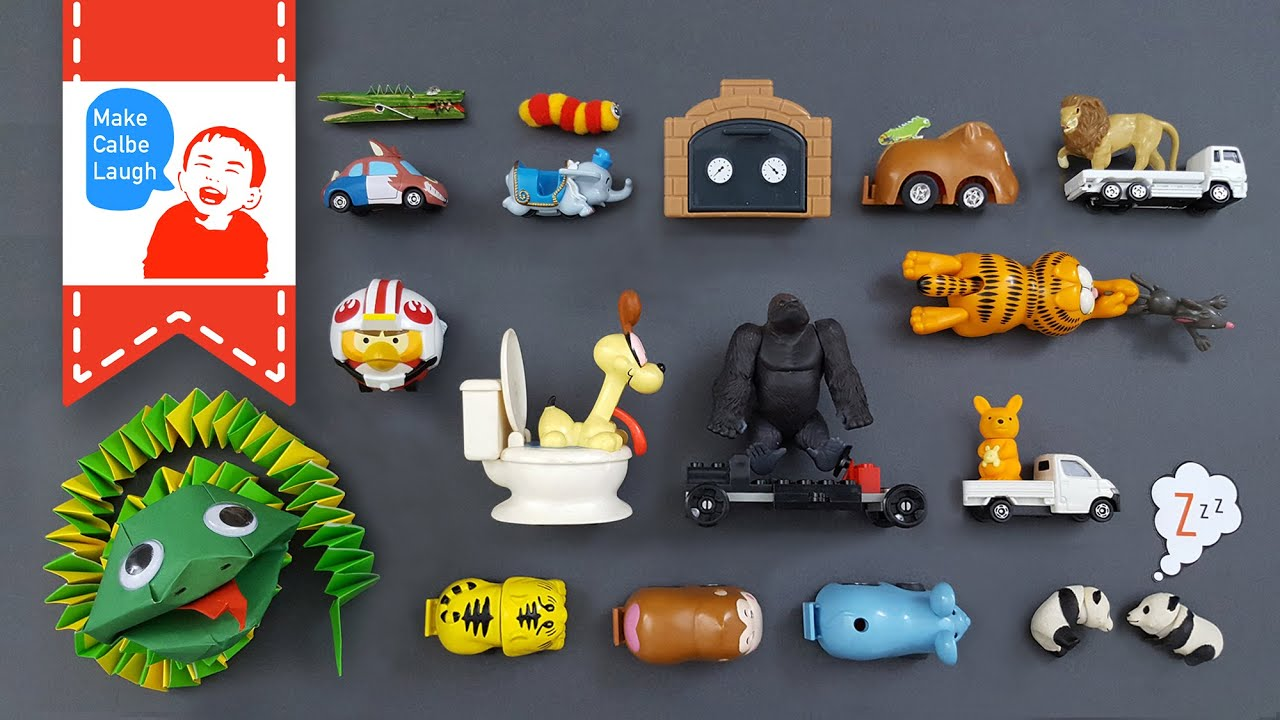 Learning alphabet abc for children with animals cars tomica トミã'