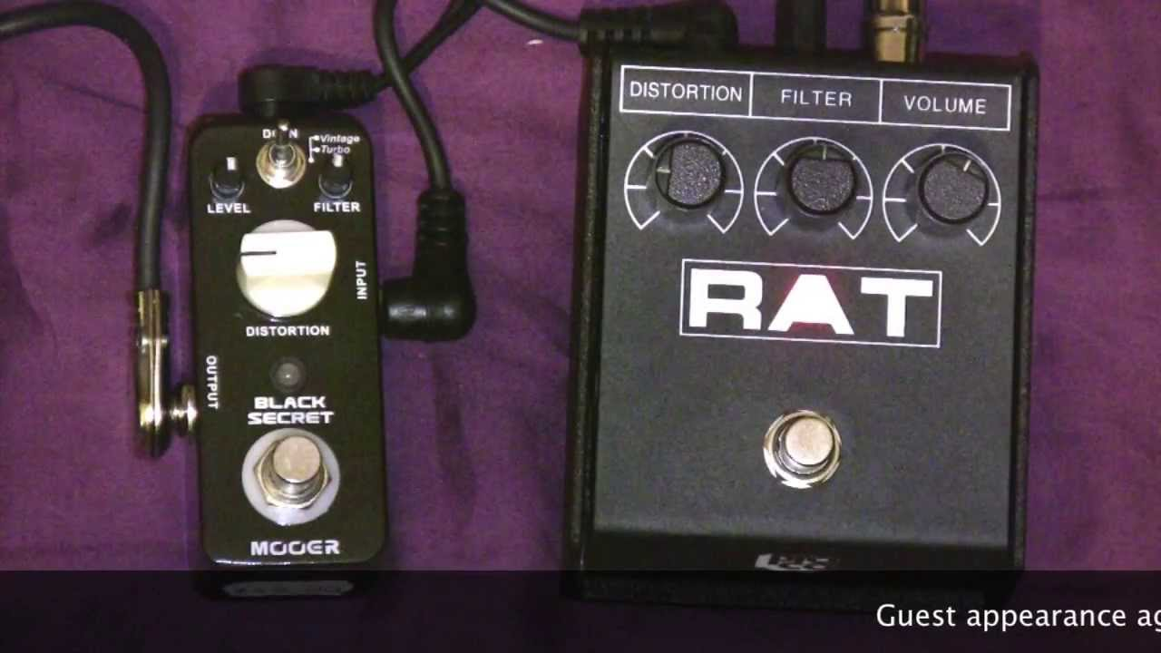 mooer black secret rat clone vs proco rat distortion pedal comparison youtube. Black Bedroom Furniture Sets. Home Design Ideas