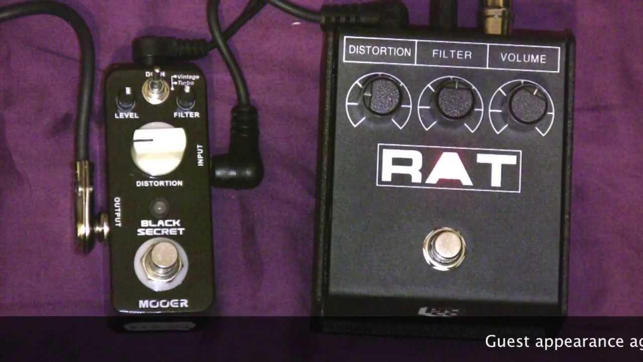 mooer black secret rat clone vs proco rat distortion pedal