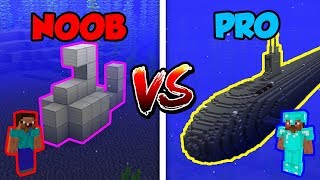 Minecraft NOOB vs. PRO: SUBMARINE in Minecraft!