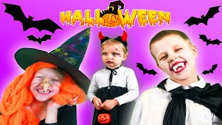 Sofia and spooky funny story for kids | Sofia pretend play party with friends and dress up