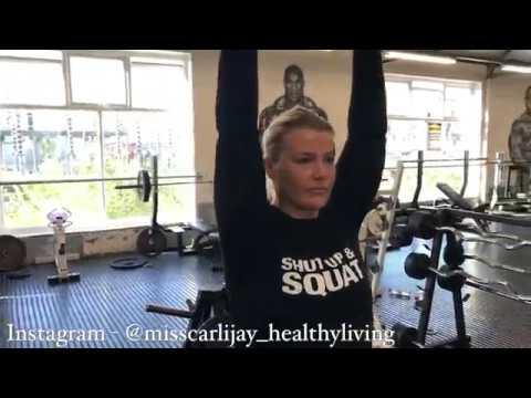 Miss Carli Jay Shoulder Workout At Emporium - Body Power Weekend