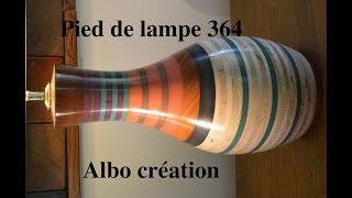 PIED DE LAMPE 364. Valchromat et Padouk.