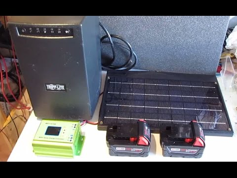 DIY: Home Made Ultimate Solar Powered Portable Power pack from salvaged UPS Power Supply
