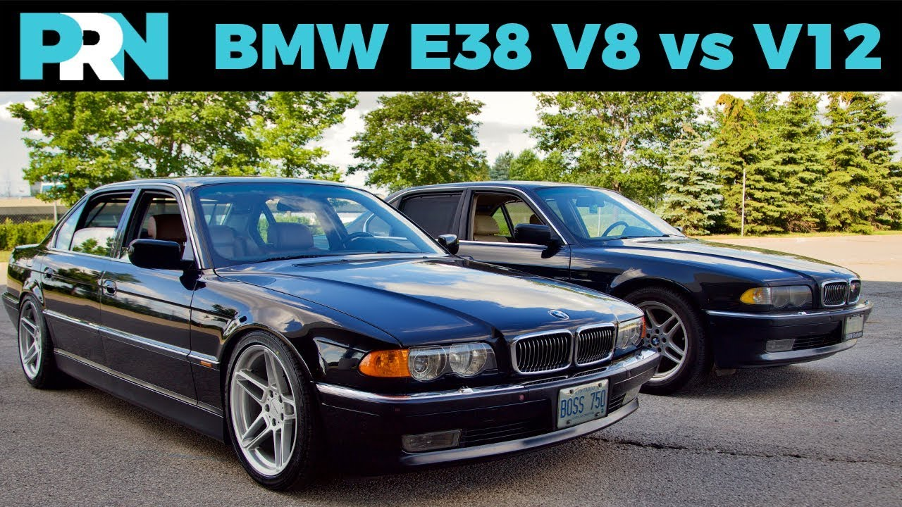 e38 bmw 7 series v12 vs v8 testdrive showdown [ 1280 x 720 Pixel ]