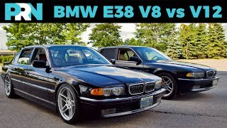 E38 BMW 7 Series V12 vs V8 | TestDrive Showdown