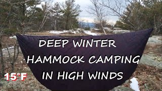 Winter Hammock Camping iฑ Cold and Wind with Warbonnet Travel Sock, Mariposa 60