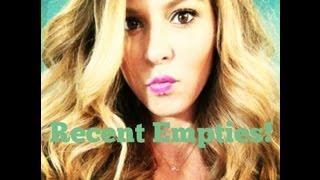 My Recent empties + SHOTOUT Thumbnail