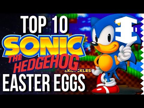 Top 10 Sonic Easter Eggs! (1991-2017) - Easter Egg Hunter