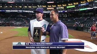 COL@ARI: Gonzalez joins the booth to discuss award