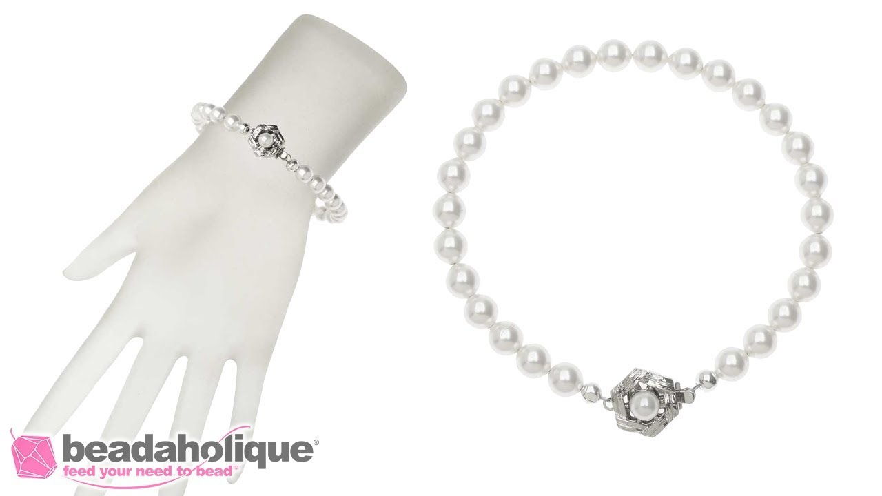 How To Make A Swarovski Pearl Bracelet Featuring Elegant Elements Clasps