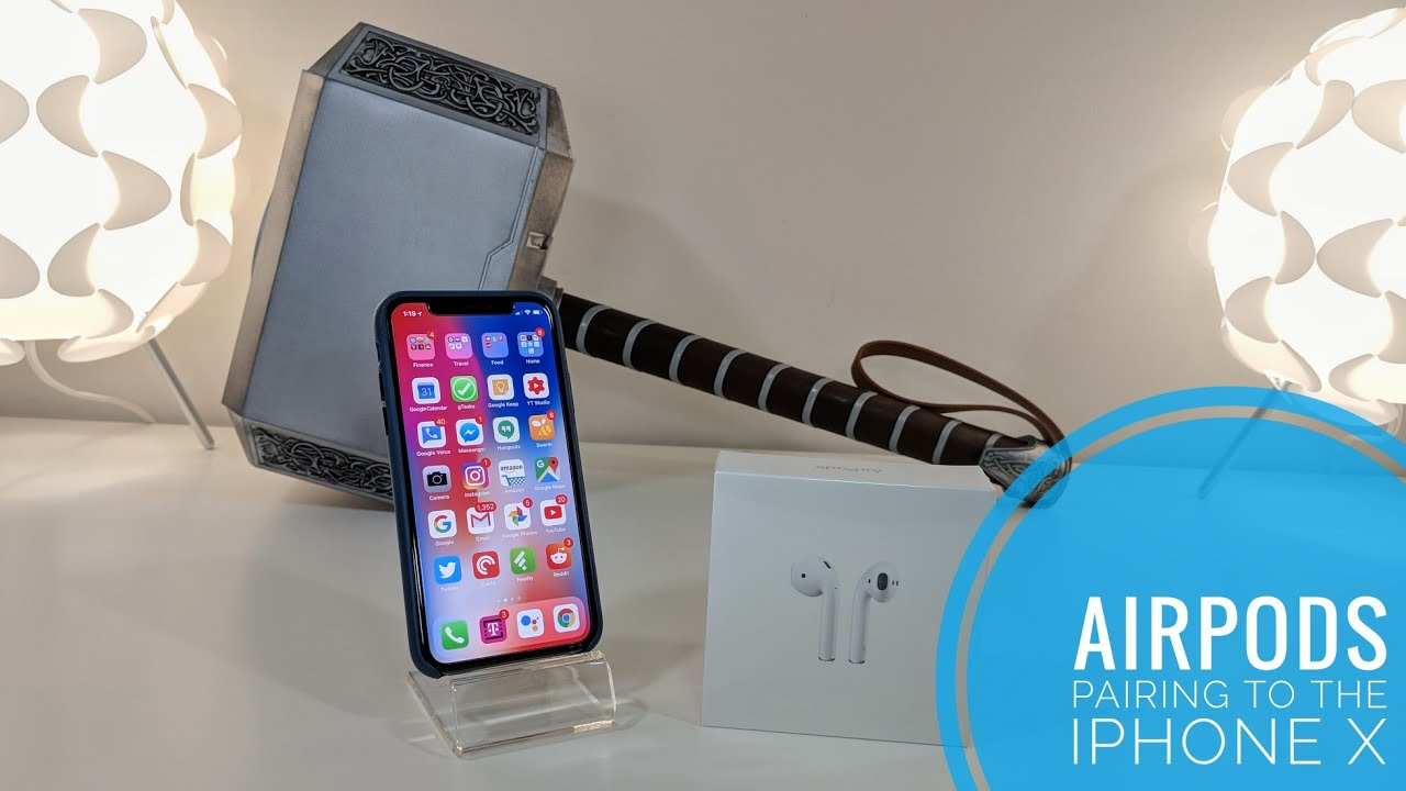 meet 72b8a 7f40d Pairing Airpods with the iPhone X!