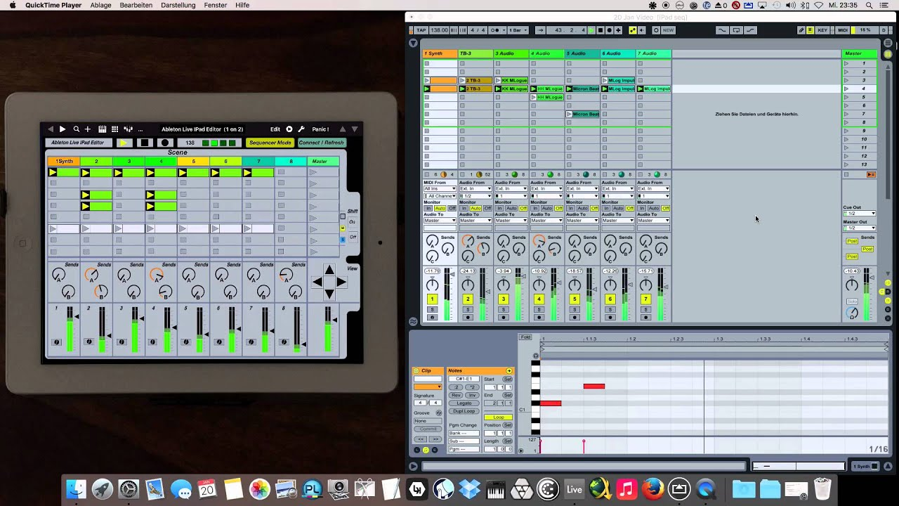 ableton live ipad editor midi controller youtube. Black Bedroom Furniture Sets. Home Design Ideas