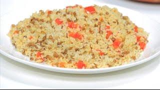 ارز بالعدس البني | نجلاء الشرشابي