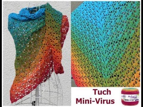Tuch Mini Virus Einfach Häkeln Mit 1 Woolly Hugs Bobbel Cotton Mit