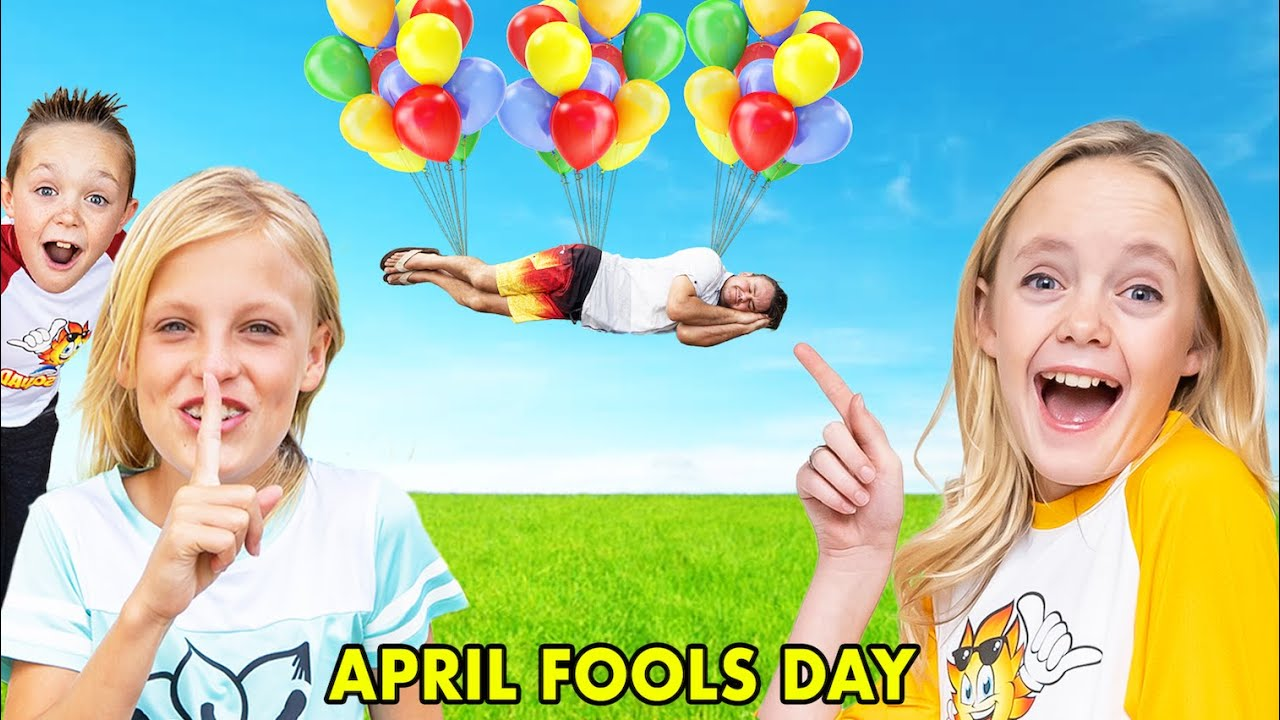 Sneaky Jokes on April Fools Day with Ninja Kidz TV! (And Spying!)