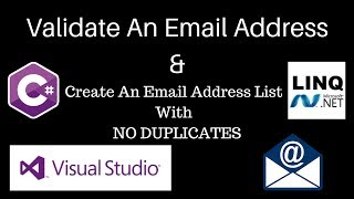 C#: كيفية التحقق من صحة & إنشاء قائمة البريد الإلكتروني مع أي التكرارات