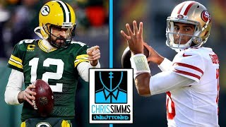 packers-49ers-rodgers-attack-49ers-defense-chris-simms-unbuttoned-nbc-sports