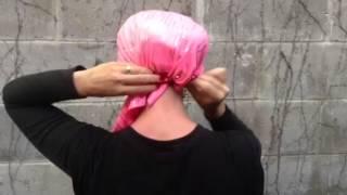 How to tie a chemo head scarf by UptownGirlHeadwear.com