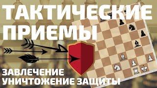 Урок 8. Тактические шахматные приемы (Уничтожение защиты; Завлечение)