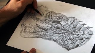 Transformers Grimlock Speed Drawing - Age of Extinction