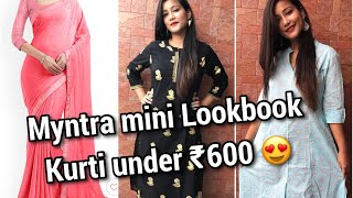 Myntra kurti and saree mini Haul ❤️ Best clothes Affordable price 👌
