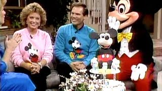 Mouseketeers Bobby Burgess and Sherry Alberoni with Mickey Mouse on his 60th Birthday!