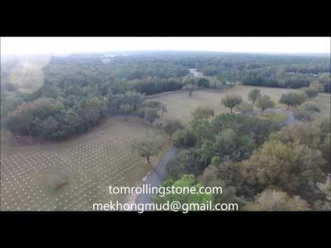 Florida National Cemetery, From Above, Bushnell, Florida