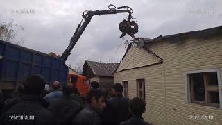 Цыгане в Плеханово сносят первый незаконный дом