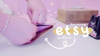 HOW TO PACKAGE ETSY ORDERS | Prints, Enamel Pins & More