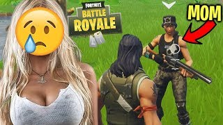 THE SADDEST LOVE STORY ON FORTNITE *YOU WILL CRY* - TROLLING A MOM ON FORTNITE