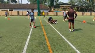 Funny warm up Football with Garcia