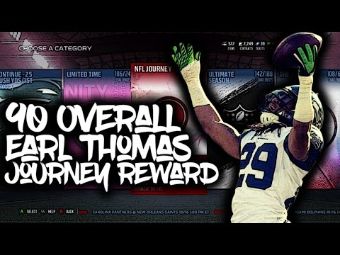Madden 17 NFL JOURNEY 90 OVR EARL THOMAS AMAZING REWARDS