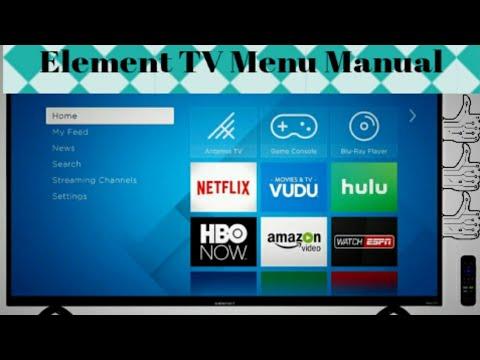 Element TV Menu Setup Manual