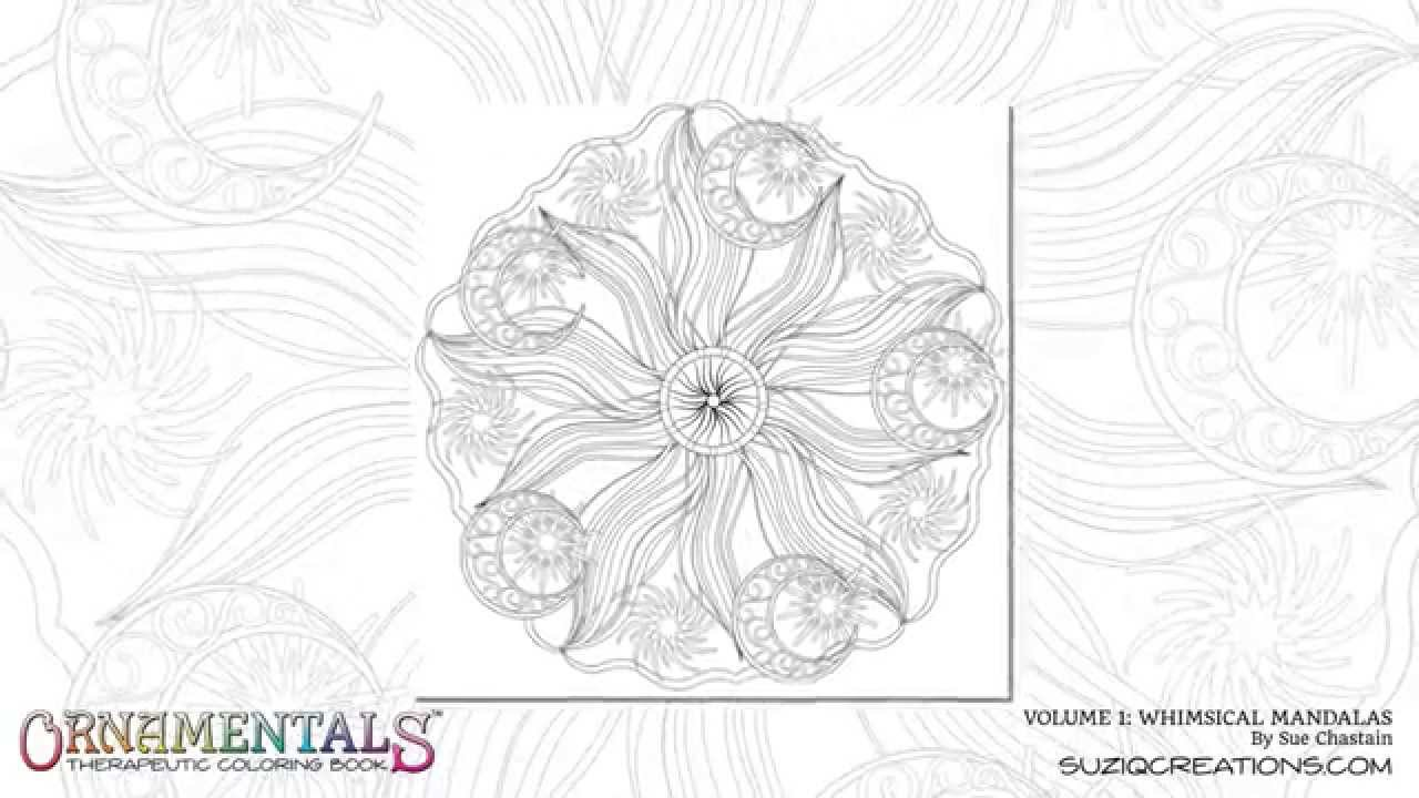 OrnaMENTALs Whimsical Mandalas Coloring Book Preview Series Volume 1