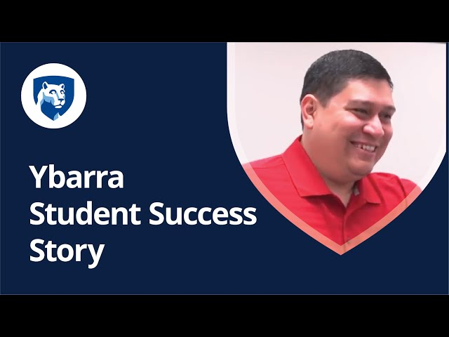 Watch Why I'm Earning My Degree Online with Penn State World Campus: Venancio Ybarra Jr.'s Story on YouTube.