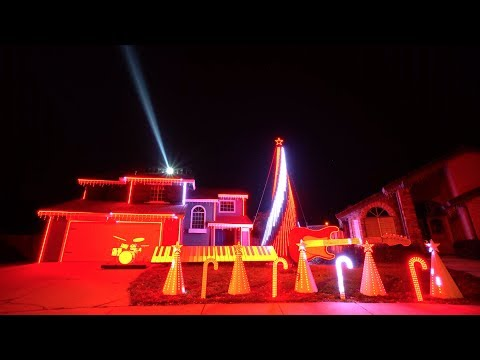 Best of Star Wars Christmas Light Show IN 4K!!! (Tracy, CA)