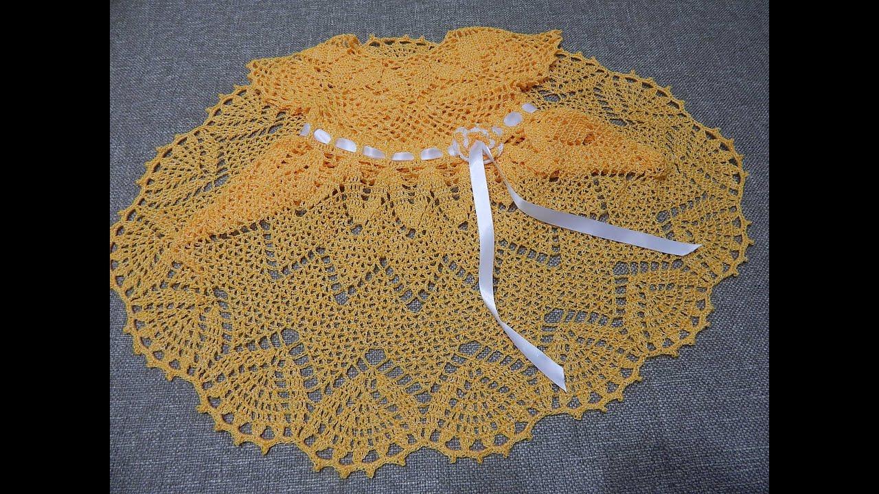 d7966d53f7b7 Vestido Crochet Zig Zag parte 1 de 3