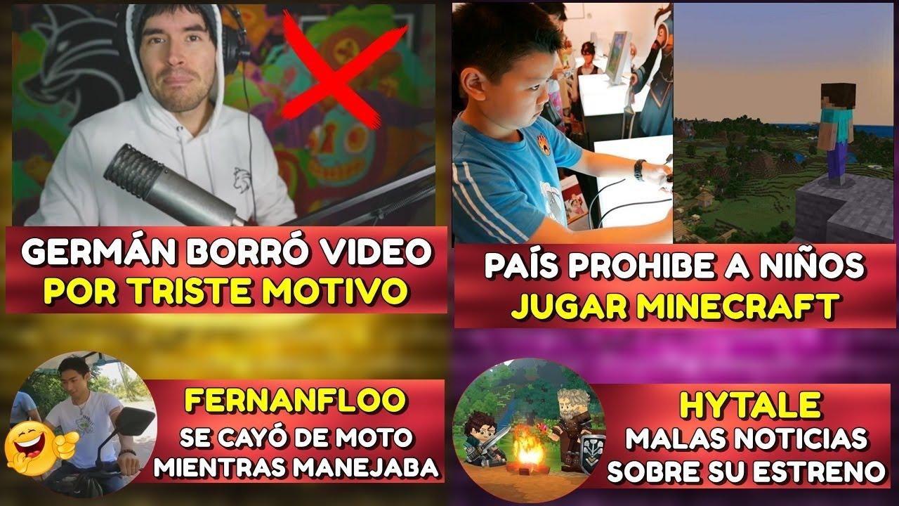 GERMÁN ELIMINÓ VIDEO POR TRISTE MOTIVO   PIDEN PROHIBIR A NIÑOS JUGAR MINECRAFT   FERNAN SE CAYÓ